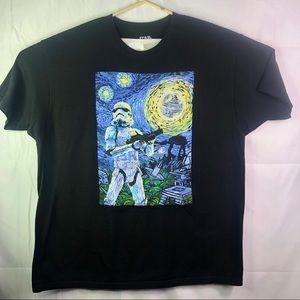 Star Wars Storm Trooper Starry Night Black T-Shirt